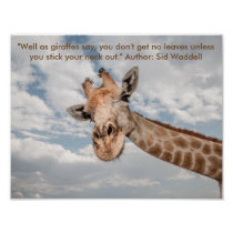 Poster of Giraffe sticking it's neck