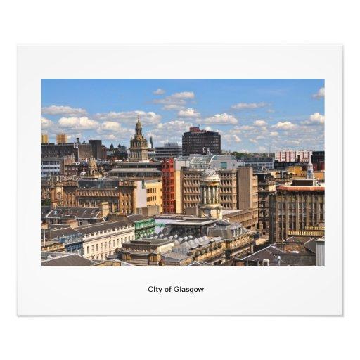 Poster of Glasgow City Skyline Photo Art