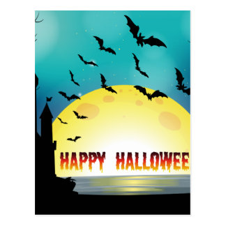 Poster of Happy Halloween Postcard