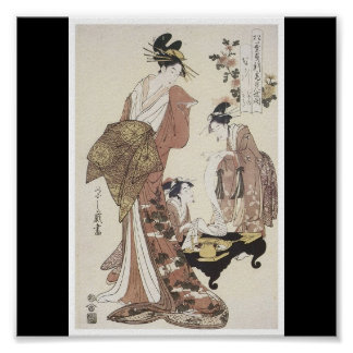 Poster of Japanese painting c. 1795
