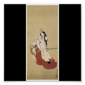 Poster of Japanese painting c. 1820