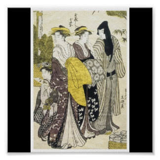 Poster of Japanese painting c. late 1780's