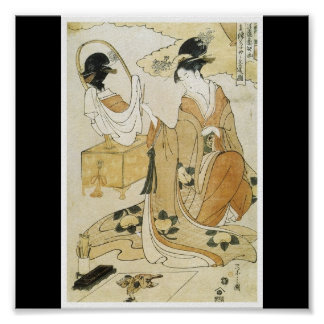 Poster of Japanese painting c. late 1790's