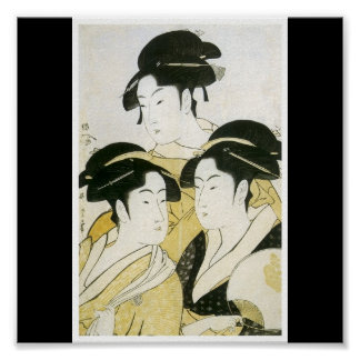 Poster of Japanese painting c. mid 1790's