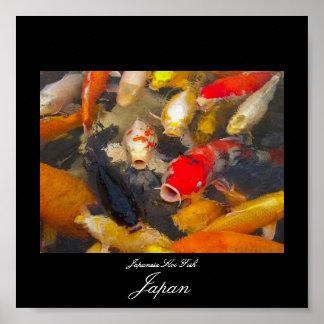 Poster of Koi Fish in Japan