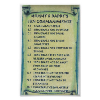 Poster of Mommy & Daddys Ten Commandments