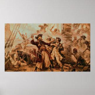 Poster of Pirates fight on Battleship