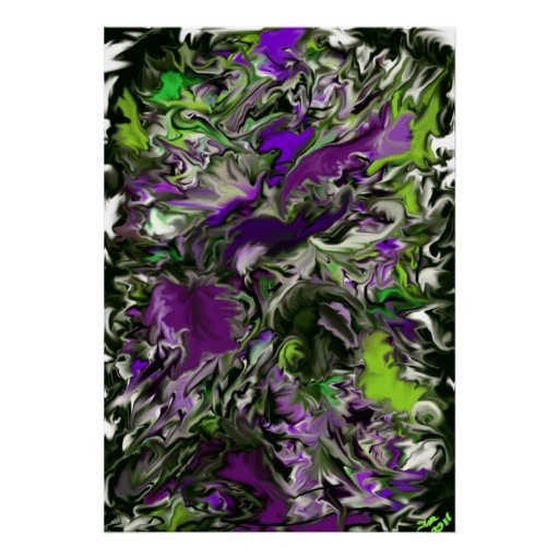 Poster of Purple Orchids by Tawny's Uniques