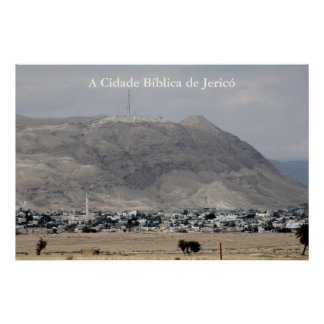 Poster of the biblical city of Jericó in Israel