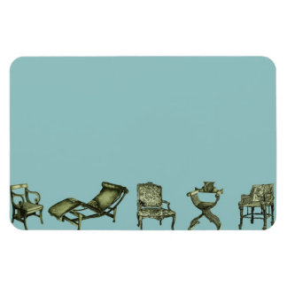 Poster of turquoise chairs flexible magnet