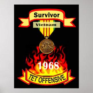 Poster ofensivo del superviviente de Vietnam Tet