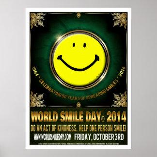 Poster oficial 2014 de Day® de la sonrisa del mund