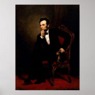 Poster oficial del retrato de Abraham Lincoln