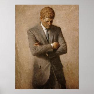 Poster oficial del retrato de John F. Kennedy Póster
