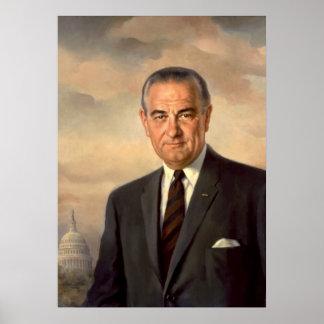 Poster oficial del retrato de Lyndon Johnson
