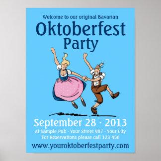 Poster Oktoberfest Party Dancing Couple