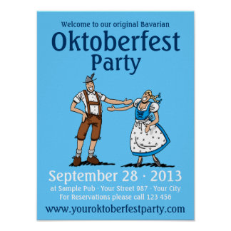 Poster Oktoberfest Party Happy Couple