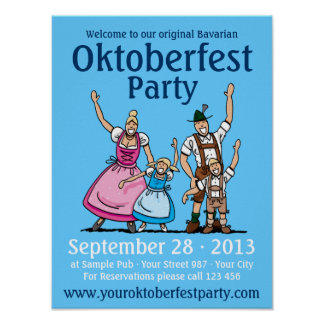 Poster Oktoberfest Party Happy Family