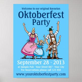 Poster Oktoberfest Party Happy Family