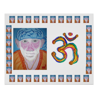 POSTER OMmantra SaiBaba