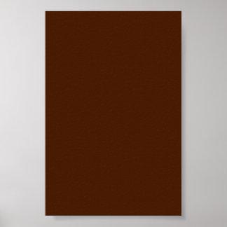 Poster or Canvas Print Chocolate Borwn Background