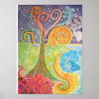 Poster or Print of Colourful Fantasy Landscape