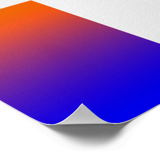 Poster Orange-Royal Blue Gradient
