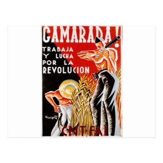 Poster original civil 1936 de la guerra CNT-FAI de Postal