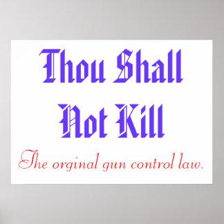 Poster original del control de armas