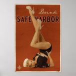 Poster original del puerto seguro