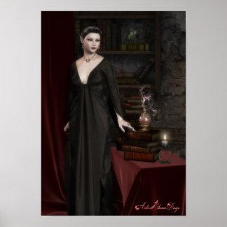 Poster oscuro de la fantasía de Elven