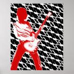 Poster oscuro de las guitarras