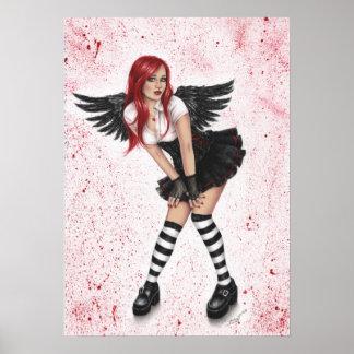 Poster oscuro del amor del ángel