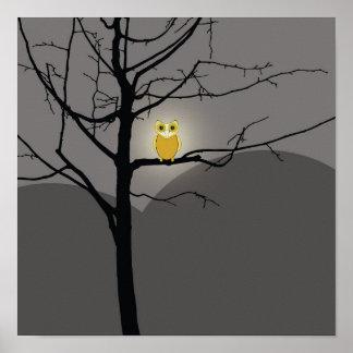 Poster oscuro del noctámbulo