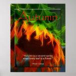 Poster - otoño - girasol
