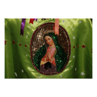 POSTER: Our Lady of Guadalupe Folk Image, Mexico Poster
