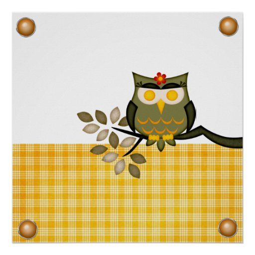 Poster Owl in a tree