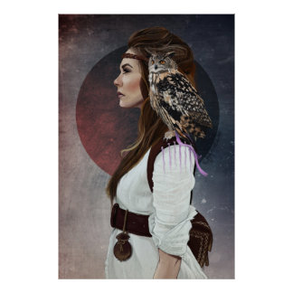 "Poster ""Owl Lady """