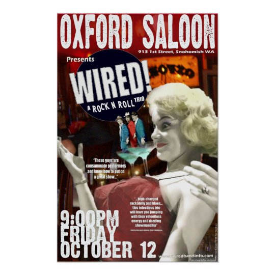 Poster Oxford Saloon Snohomish WA