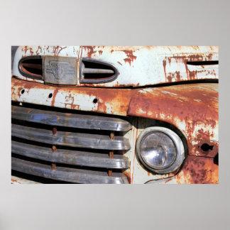 Poster oxidado del coche