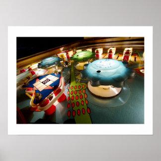 Poster OXO del pinball de los parachoques