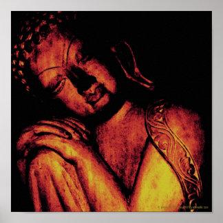 Poster pacífico del oro de Buda Póster