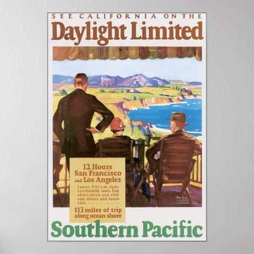 Poster pacífico meridional ilimitado del viaje de