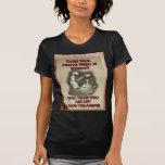 Poster pacifista camiseta