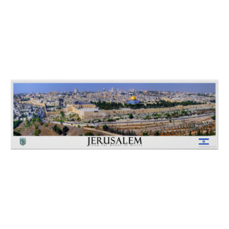 Poster panorámico de Jerusalén