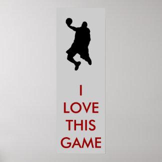 Poster panorámico de la silueta del jugador de bás
