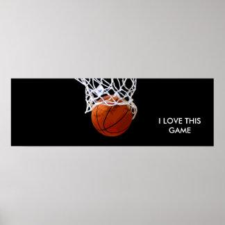 Poster panorámico del baloncesto