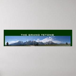 Poster panorámico magnífico de Tetons