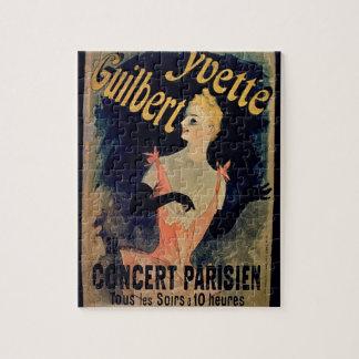 Poster para el concierto parisiense de Yvette Gui Rompecabezas