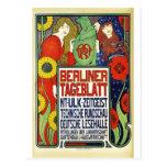 Poster para el periódico Tageblatt berlinés, 1899 Postal